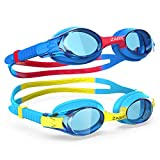 ZABERT K20 Kids Swimming Goggles for Age 3-12 Years Old, Anti-Fog 100% UV Protection with Travel Bag