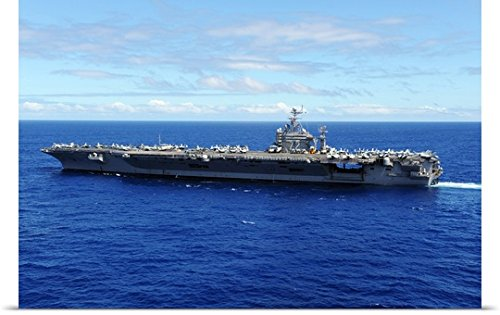 Stocktrekイメージ「Theポスター印刷Aircraft Carrier USS ABRAHAM LINCOLN Transits Across the Pacific Ocean 48