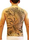 Champs(シャン) タトゥーシール 背面 刺青 (昇り鯉)