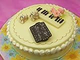 (ロリアン)ホワイトチョコデコレーションケーキ バラのシンフォニー 子犬のワルツ(直径19cm 高さ5cm)