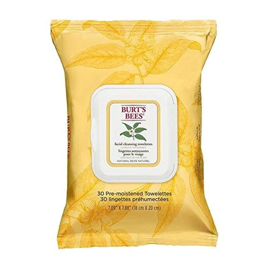 偉業はねかける聴くホワイトティーエキスとバーツビー洗顔ペーパータオル x2 - Burt's Bees Facial Cleansing Towelettes with White Tea Extract (Pack of 2) [並行輸入品]