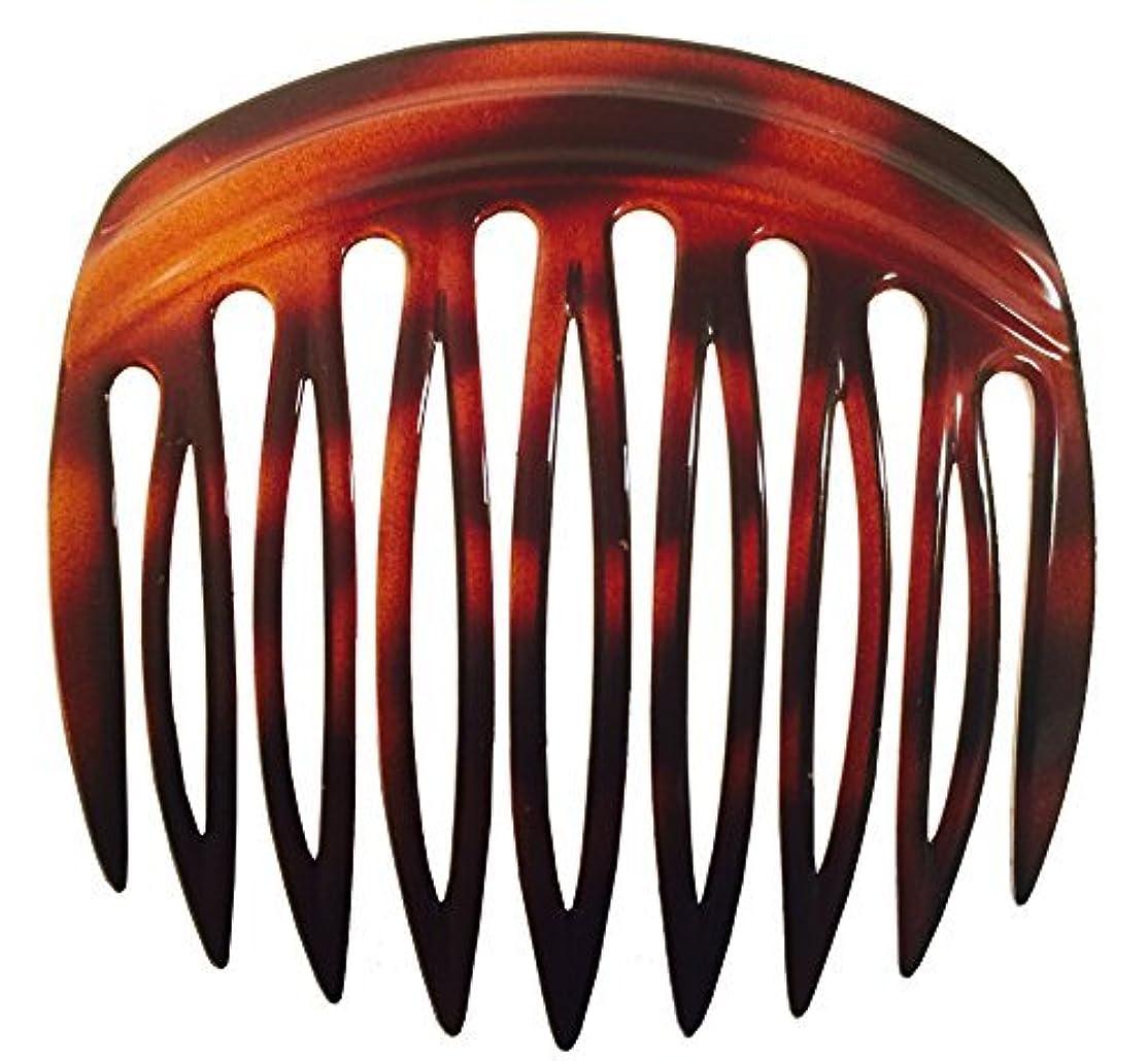 嫉妬蜂機関車Parcelona French Arch 2 Pieces Celluloid Tortoise Shell 9 Teeth Hair Side Comb Pair [並行輸入品]