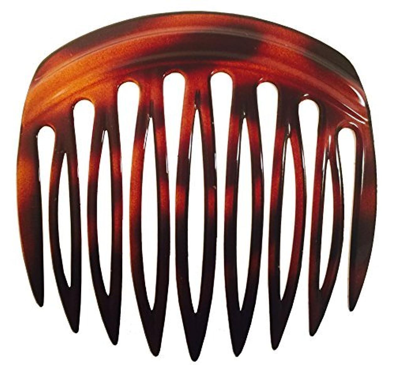 オピエート流行卒業Parcelona French Arch 2 Pieces Celluloid Tortoise Shell 9 Teeth Hair Side Comb Pair [並行輸入品]
