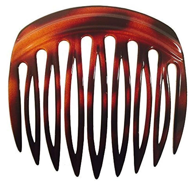 近所のしたがってよりParcelona French Arch 2 Pieces Celluloid Tortoise Shell 9 Teeth Hair Side Comb Pair [並行輸入品]