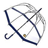 【正規輸入品】 フルトン バードケージ 1 UV 全4色 長傘 手開き 日傘/晴雨兼用 ネイビー 8本骨 60cm グラスファイバー骨 3194155