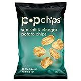 Popchipsの海塩&ビネガーポップポテトチップス85グラム - Popchips Sea Salt & Vinegar Popped Potato Crisps 85g [並行輸入品]