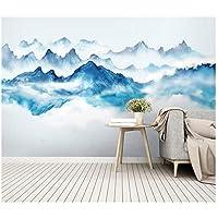 山笑の美 注文の壁紙の壁画の中国インク景色の壁画の居間3Dの自己接着ビニール/絹の壁紙-310X200CM