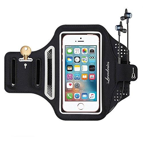 Landnics スポーツ アームバンド ランニング スマホ アームバンドケース 鍵入り カード収納 超薄型軽量 防水 防汗 調節可能 iphoneX、iphone6/7/8、iphone6/7/8plus 、Xperiaなど5.5インチまでのスマホに対応