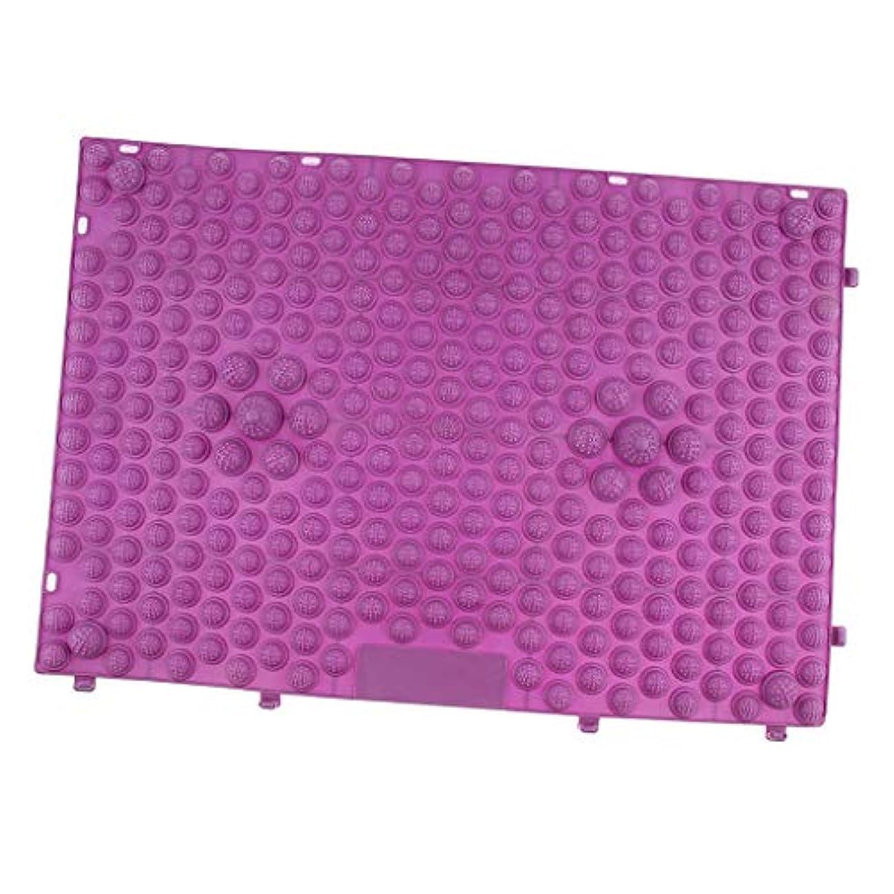 モノグラフ韓国を除くdailymall フットマッサージ マット マッサージパッド マッサージシート 疲労和らげ 多色選べ - 紫