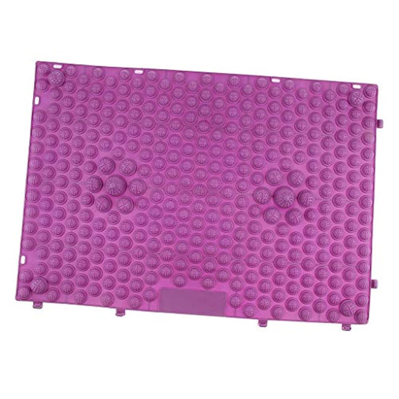 宿泊シネウィベルベットdailymall フットマッサージ マット マッサージパッド マッサージシート 疲労和らげ 多色選べ - 紫