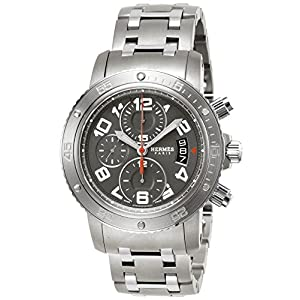 [エルメス]HERMES 腕時計 クリッパーダイバークロノ グレー文字盤 ステンレス/チタンケース200M防水 CP2.941.230.4963 メンズ 【並行輸入品】