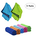 "Superlife Coco 40""x12"" Cooling Towel Chilly Towel Cooling Towels for Neck Workout Towel, for Sports, Workout, Fitness..."