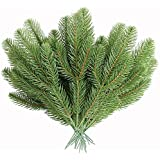 MUFEN 30pcs Artificial Pine Branches Green Plants Pine Needles DIY Accessories for Garland Wreath Christmas Embellishing and