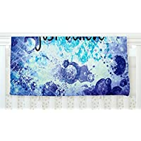 KESS InHouse Ebi Emporium Just Believe Blue Purple Fleece Baby Blanket 40 x 30 [並行輸入品]