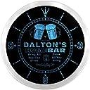 LEDネオンクロック 壁掛け時計 ncp0754-b DALTON 039 S Home Bar Beer Pub LED Neon Sign Wall Clock