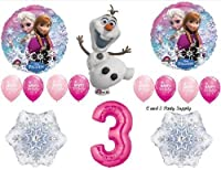 Frozen Pink 3rd Disney Movie Birthday Party Balloons Decorations Supplies by Anagram by Anagram