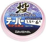 ダイワ(Daiwa) ハリス サーフセンサーテーパーちから糸α PE 13m 1.5~6号 オレンジ