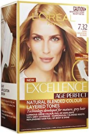 L'Oréal Paris Excellence Age Perfect Permanent Hair Colour - 7.32 Dark Gold Rose Blonde (Natural Blended C