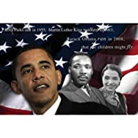 Our子Will Fly by Zachary Brazdis 24X 36ジクレーアートプリントポスターBarack Obama、キング、Rosa Parks、アメリカ国旗、赤、白、ブルー、ブラック、歴史Best Seller