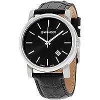 Wenger Urban Classic Vintage Black Dial Leather Strap Men's watch 011041139CB