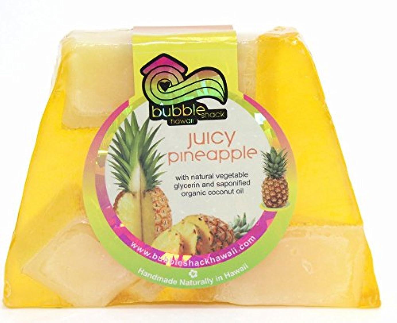 窒素不十分クロスハワイ お土産 ハワイアン雑貨 バブルシャック パイナップル チャンクソープ 石鹸 (パイナップル) ハワイ雑貨