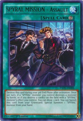 遊戯王 英語版/Yu-Gi-Oh! - SPYRAL MISSION - Assault (INOV-EN088) - Invasion: Vengeance - 1st Edition - Rare