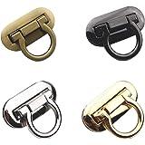 RAYNAG Set of 4 Ring Clasp Turn Lock Metal Hardware for DIY Handbag Shoulder Bag Closure Purse Making Supplies