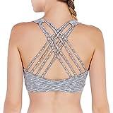 matymatsヨガスポーツブラfor Women wire-free取り外し可能なパッドMediumのサポートヨガ、ピラティス、ウォーキング、ランニング、ダンス