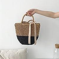 Mrs.L Store かばん 肩掛け かわいい 草網 シンプル レディース 普段持ち 大容量