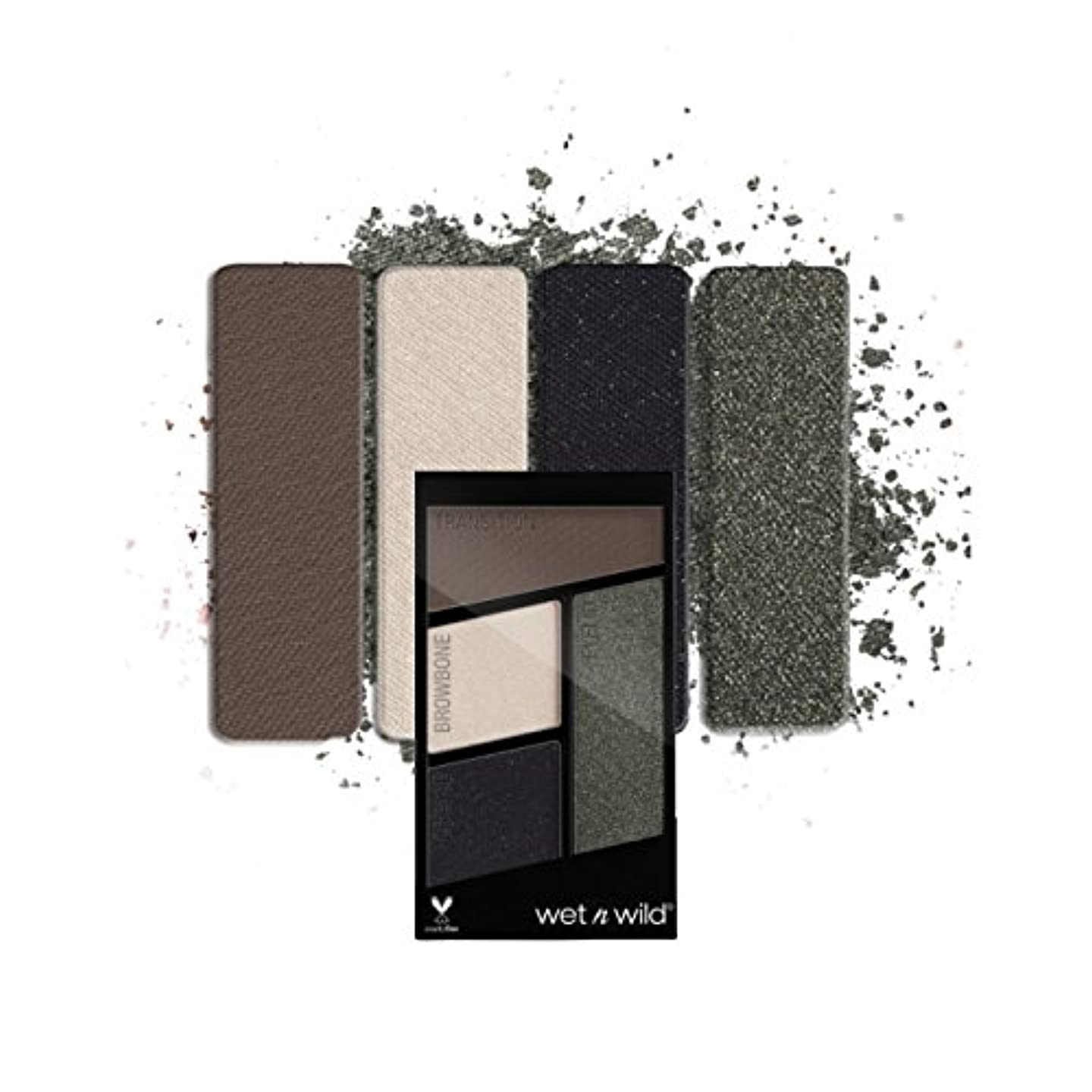 スプーン文献状(3 Pack) WET N WILD Color Icon Eyeshadow Quad - Lights Out (並行輸入品)