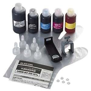 【2009年モデル】ELECOM 詰替えインク/キヤノン/BCI-321・320BK対応5色セット(5回分) THC-MP630SET