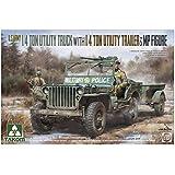 タコム 1/35 アメリカ陸軍 1/4トン ユーティリティトラック w/トレーラー&憲兵フィギュア プラモデル TKO2126