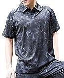 (ガンフリーク) GUN FREAK タクティカル ポロシャツ 半袖 ハニカム 迷彩 サバゲー ミリタリー ( L , タイフォン ブラック )