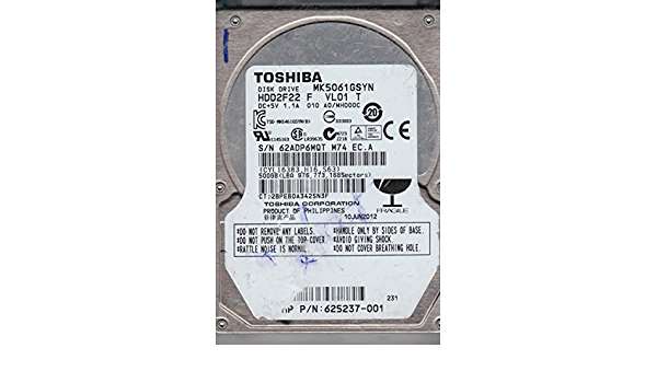 HDD2F22 F VL01 B Toshiba SATA 2.5 PCB A0//MH000C MK5061GSYN G002872A
