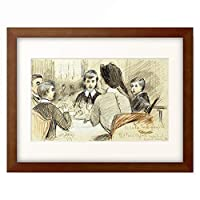 ポール・セザール・エリュー Paul César Helleu 「A Family Dinner at the Ritz, New York. 1920」 額装アート作品