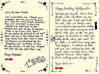 Quiplip Handwritten Yours Truly Birthday Cards 6-Pack (YT07166PCK) [並行輸入品]