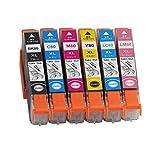 エプソン IC80L (IC6CL80L) 互換インク 増量タイプ 6色セット ICチップ付き