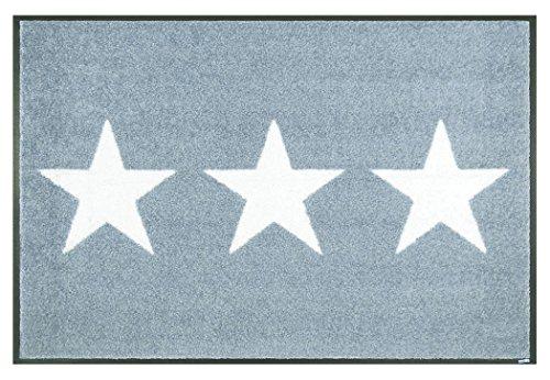 クリーンテックス ジャパン wash+dry薄型で丈夫な洗える玄関マット Stars grey 50×75cm 1枚 [7840]