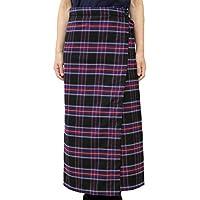 [TCC] 温+(プラス) ふわふわフリースがやさしく暖めるほっとするタータンチェック防寒巻スカート 膝掛け 巻きスカート 2WAY仕様 約84cm丈