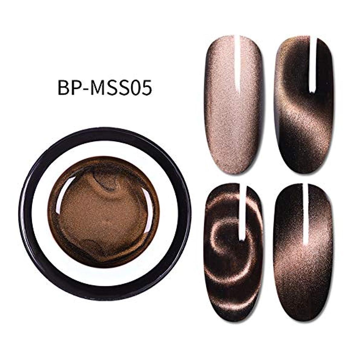 シュリンクベール伝導hamulekfae-5D磁気キャットアイジェルポリッシュUVネイルアートロングラスティングワニスラッカー 5