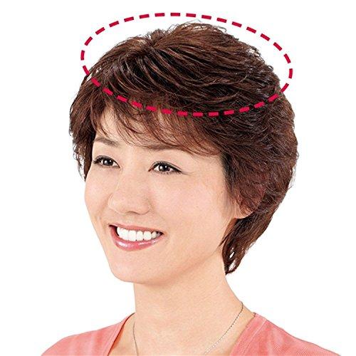医療用 レディース ウィッグ (ナチュラルブラック) 女性 用 部分 かつら 通販 医療 用 薄毛 ...