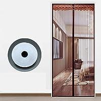 マグネット付き簡単網戸 玄関網戸,蚊帳 マジックテープ付き 網戸カーテン 自動で閉-90×230センチメートル(35×91インチ)-A