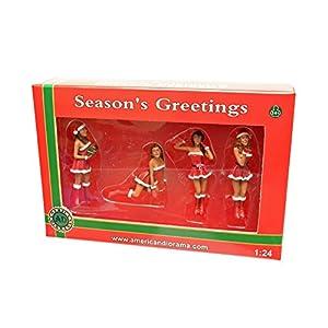 1/24 American Diorama Christmas Girls クリスマスガールズ 4体セット サンタ コスプレ 女 女性 フィギュア 模型