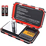 Brifit Digital Mini Scale, 200g /0.01g Pocket Scale, 50g Calibration Weight, Electronic Smart Scale (Red)