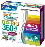 三菱化学メディア Verbatim BD-R DL 2層式 (ハードコート仕様) 1回録画用 50GB 1-6倍速 5mmケース 10枚パック ワイド印刷対応 ホワイトレーベル VBR260RP10V1