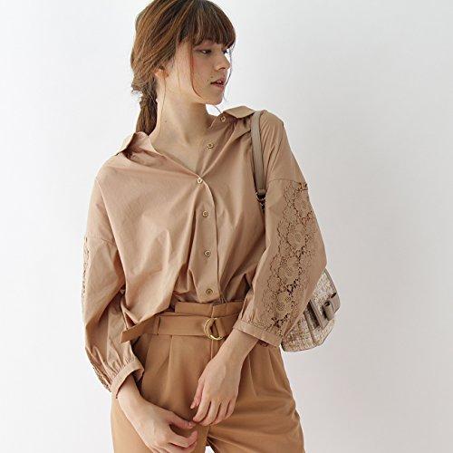 (クチュールブローチ) Couture Brooch スリーブレース抜衿シャツ 50883203 38(M) ベージュ系(054)