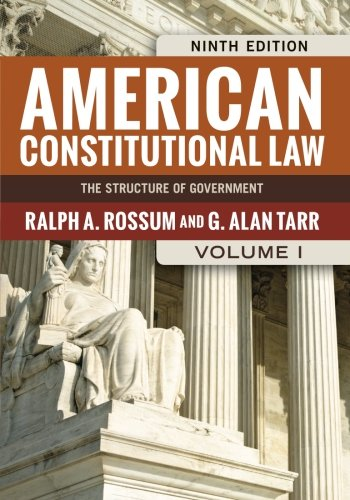 Download American Constitutional Law, Volume I: The Structure of Government (American Constitutional Law: The Structure of Government (V1)) 0813347459