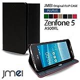 Zenfone5 A500KL ケース JMEIオリジナルフリップケース PLUTUS ブラック ASUS ゼンフォン 5 エイスース simフリー スタンド機能付き スマホ カバー スマホケース スリム スマートフォン