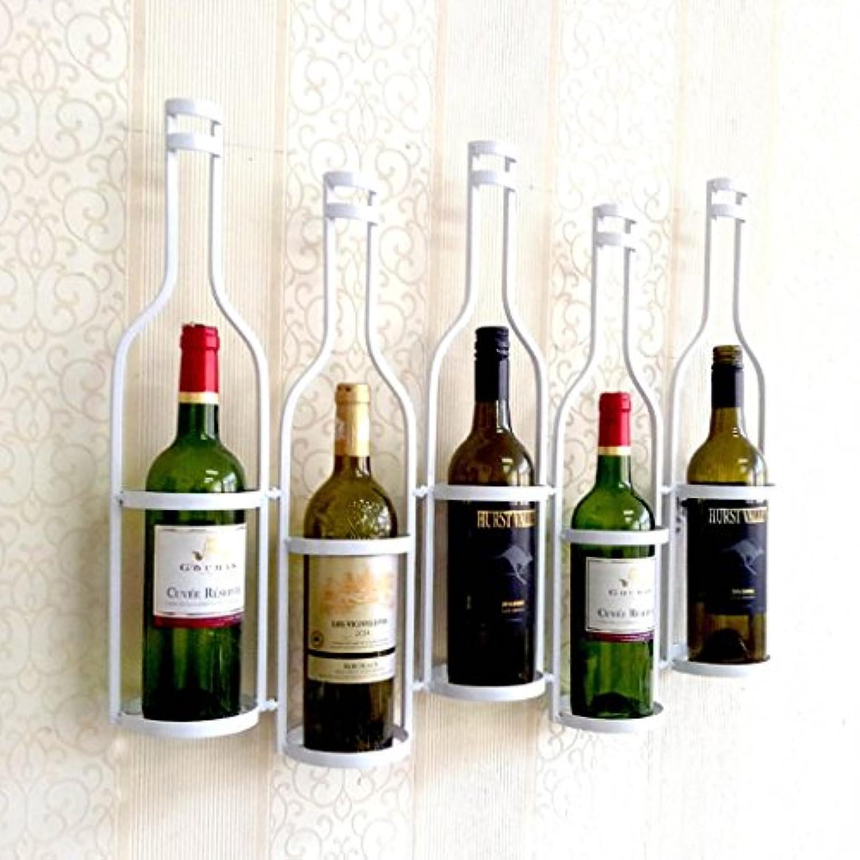 ワインラック/ハンギングレッドワインカップホルダー/吊り下げガラスホルダー/クリエイティブホームバー/ワインラックハンギングガラスホルダー (色 : 白)