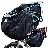 子供乗せ 自転車 チャイルドシート レインカバー フロント 前用 ラインブルー